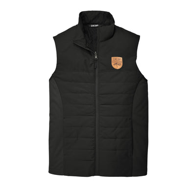 Rudder Vest Leather Dark Moutain -Black