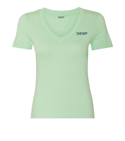 Women's Dock Tales and Cocktails V-Neck Mint