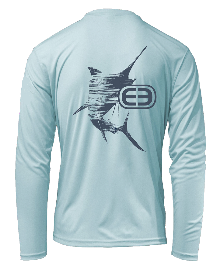 Eco Series Marlin Sunshirt Long Sleeve Performance - Aqua Blue