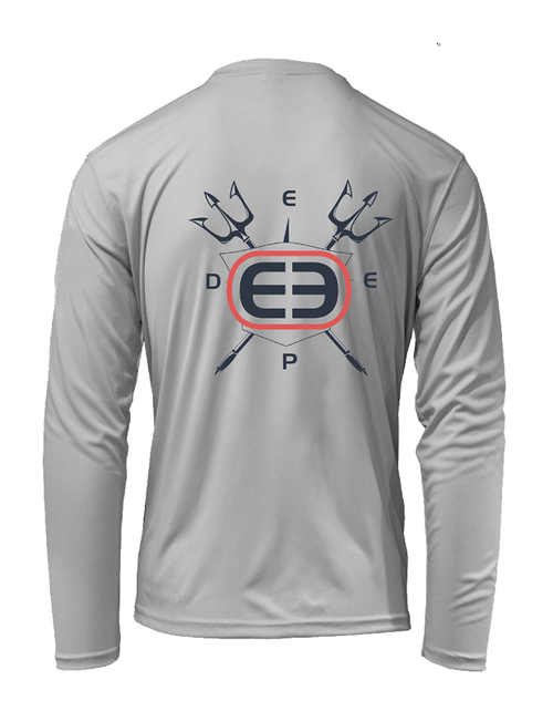 Eco Series Trident Sunshirt Long Sleeve Performance - Pearl Grey