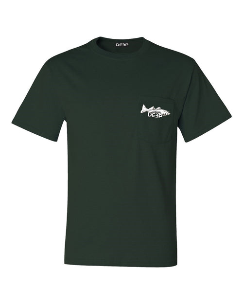 Striper Pocket T - Forest Green