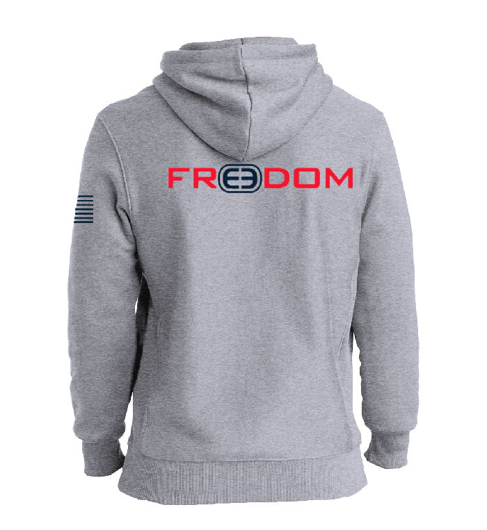 Freedom Heavy Hoodie - Heather Grey