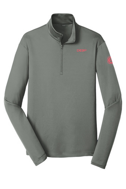 Grey BYOB Performance Quarter Zip
