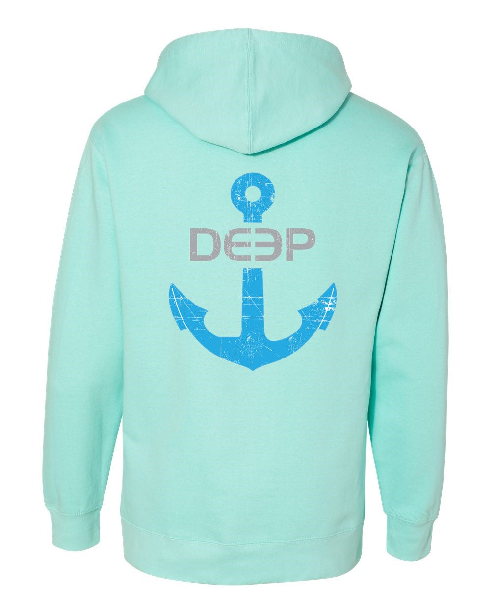 Womens Anchor Hoodie - Mint