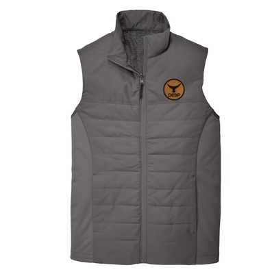 Rudder Vest Leather Tuna Tail  - Graphite