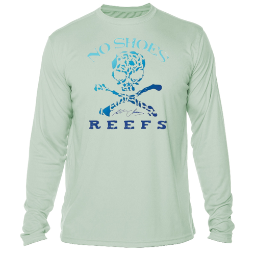 No Shoes Nation Repreve Long Sleeve Performance - Sea Grass