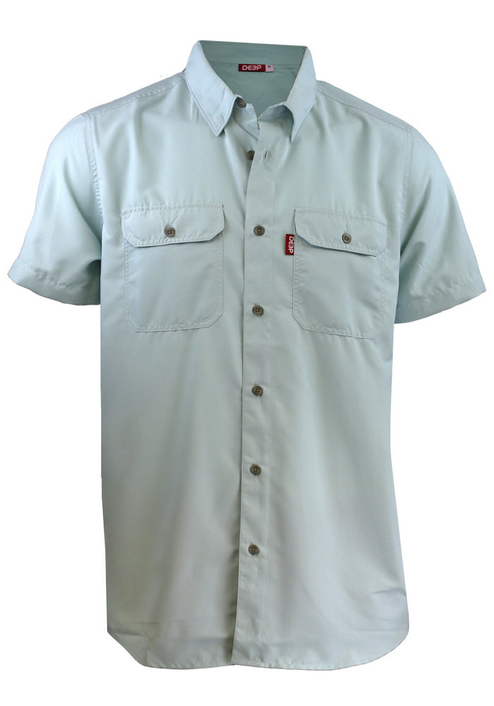Boat TO> Bar Short Sleeve Ice Button-Up