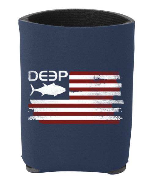 Tuna Flag Koozie - 2 Colors Available