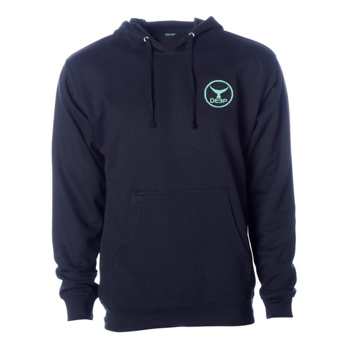 Schoolie Tuna Tail Hoodie - Navy / Seafoam Tuna Tail