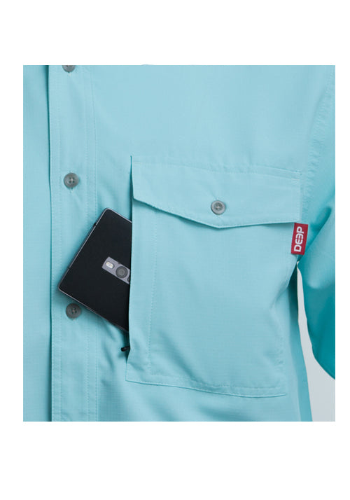 Boat to Bar Long Sleeve Ice Button Up Pocket