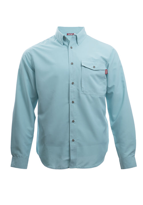 Boat to Bar Long Sleeve Ice Button Up