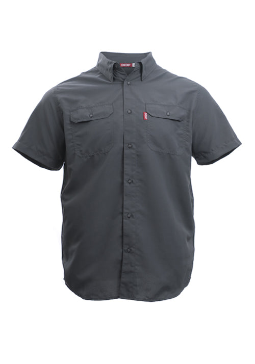 Boat TO> Bar Short Sleeve Charcoal Button-up