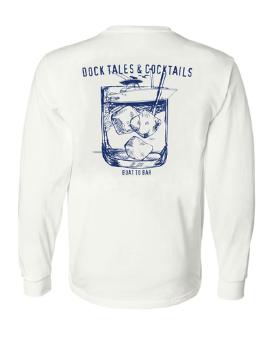 Dock Tales and Cocktails Long Sleeve - White