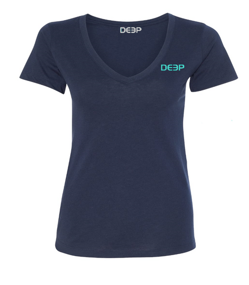 Women's Dock Tales and Cocktails V-Neck Navy