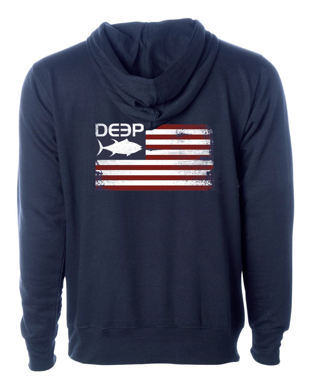 Tuna Flag Heavy Weight Hoodie Navy