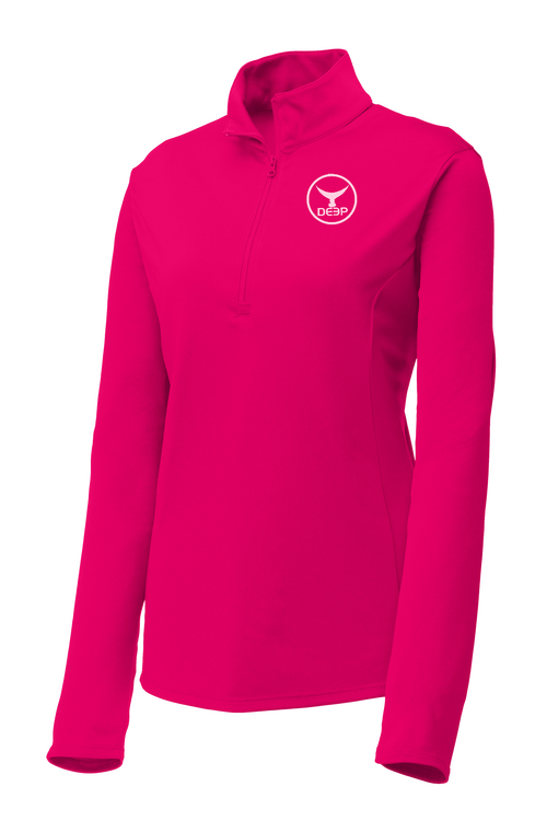 Women's Raspberry BYOB Tuna Tail Performance Quarter Zip