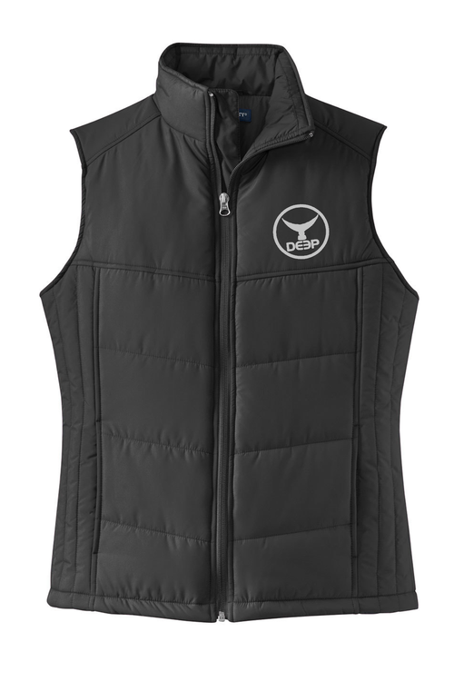 Womens Tuna Tail Puffy Vest - Black