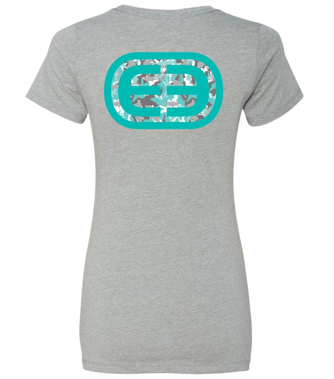 Women's Tee EE Camo Heather Grey/Teal