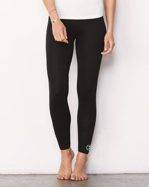 Ladies Black Yoga Pants - small seafoam EE