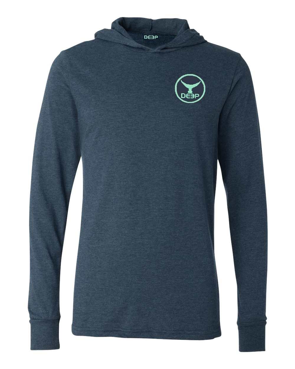 Tuna Tail Triblend Hoodie - Heather Navy