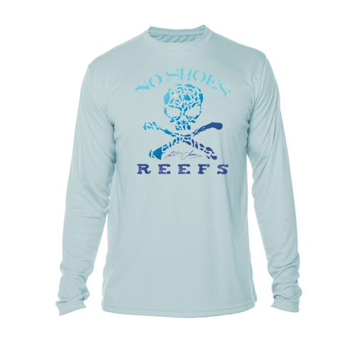 No Shoes Reefs Repreve Long Sleeve Performance - Artic Blue