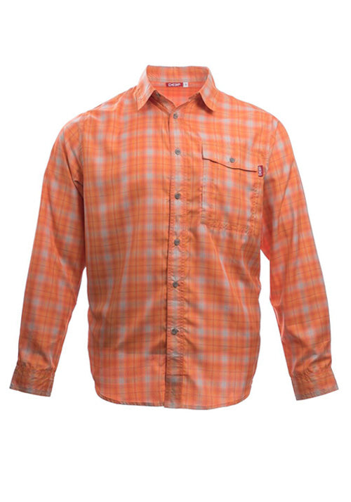 Boat to Bar Performance Plaid Orange