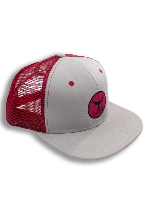 Red Tuna Tail Flat Brim Trucker