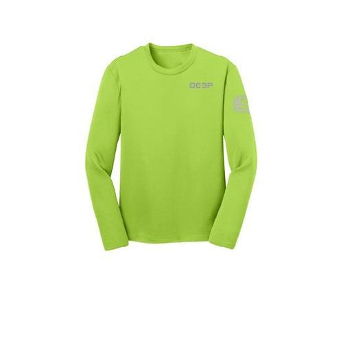 Schoolie Long Sleeve Sun T  - Avacado / Grey