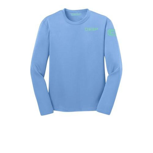 Schoolie Long Sleeve Sun T  - Carolina Blue / Seafoam