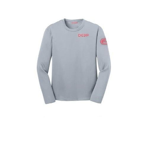 Schoolie Long Sleeve Sun T  - Grey / Red