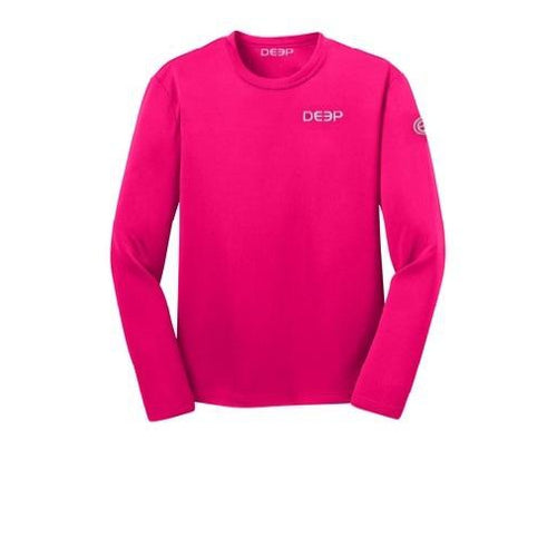 Schoolie Long Sleeve Sun T  - Raspberry / Silver
