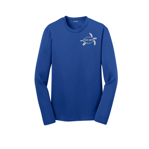 Schoolie Long Sleeve Turtle Sun T  - Royal