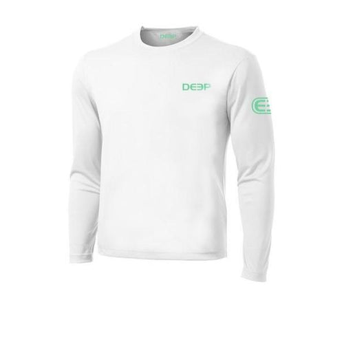 Schoolie Long Sleeve Sun T  - White / Seafoam