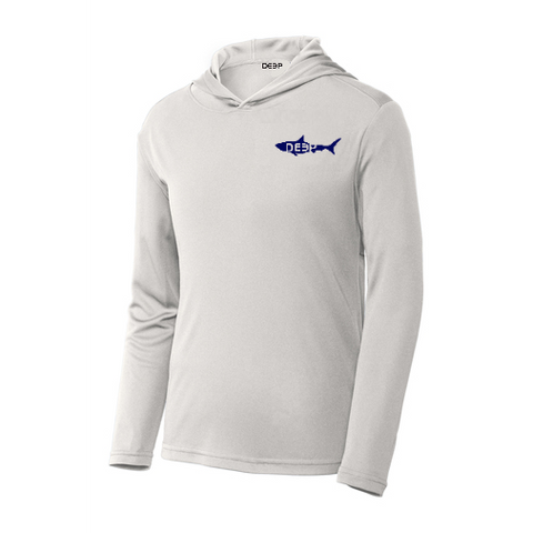 White  Cotton Shark Hoodie