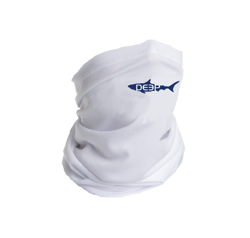 Schoolie  DEEP Sun Shield White - Navy Shark (Kids)