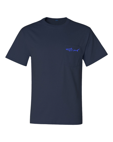 Swordfish Pocket T - small swordfish on pocket - Medium