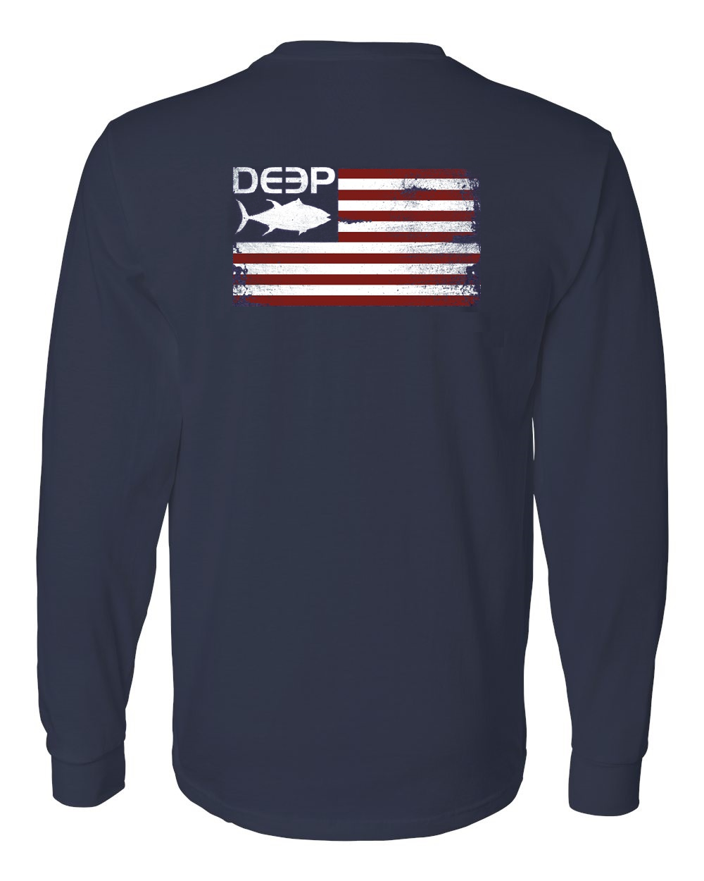 Navy Tuna Flag Cotton Long Sleeve
