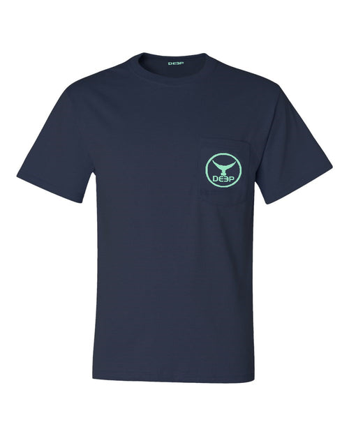 Tuna Tail Pocket T Navy - Seafoam Tuna Tail