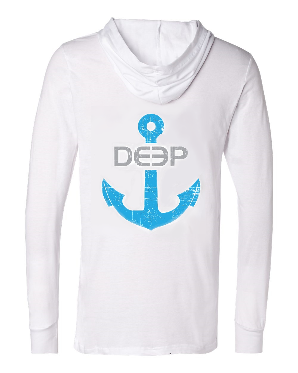 White Anchor Hooded Tee