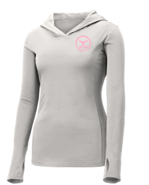 Women's BYOB Tuna Tail Hoodie - Light Grey