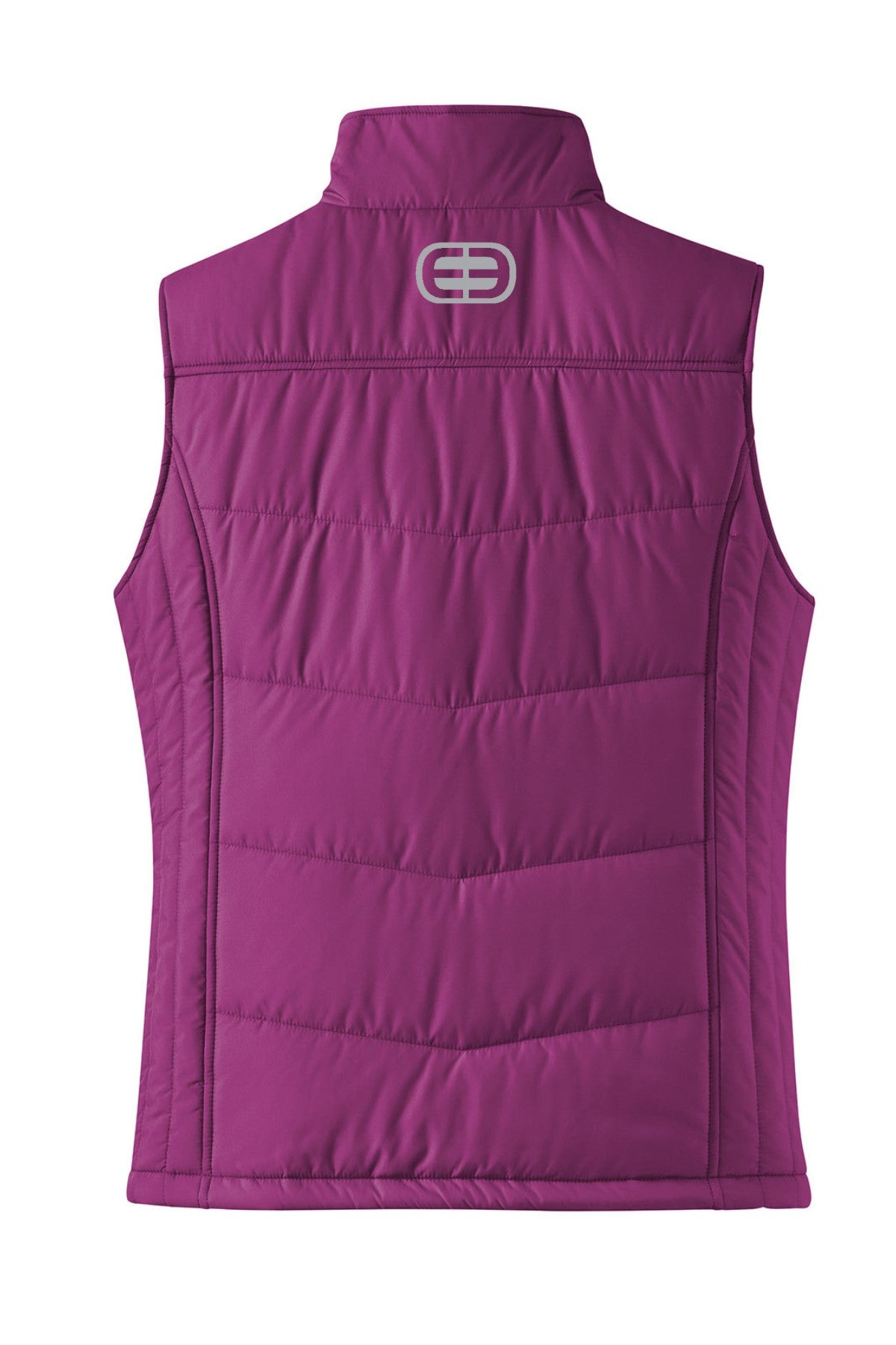 Womens Puffy Vest - Berry