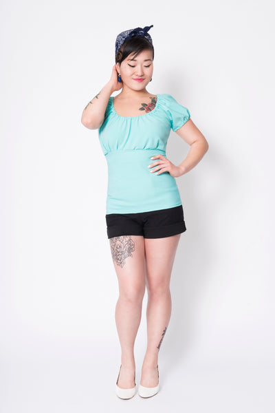 Chandail Trixie turquoise / Trixie turquoise top