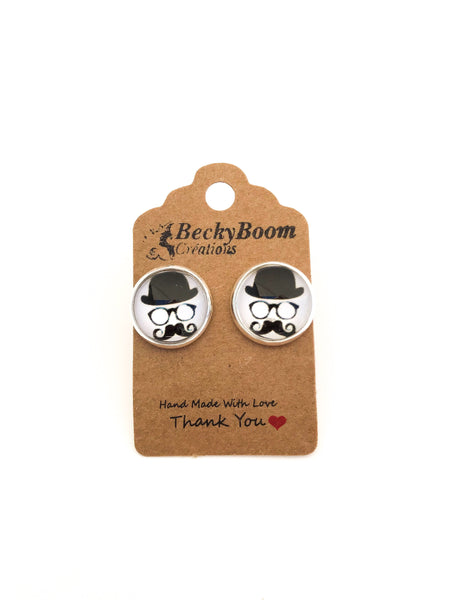 Boucles d'oreilles mode - Moustache / Mustache fashion earrings - Vintage Romance