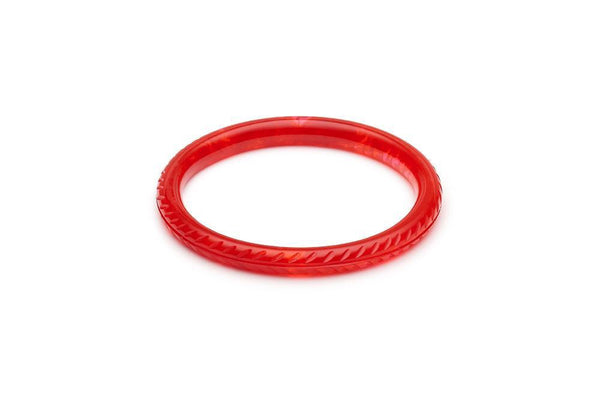 Bracelet fakelite rouge / Poppy red fakelite bangle