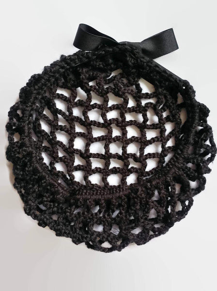 Filet à cheveux pinup 1940 noir / Black Pinup hair snood 1940