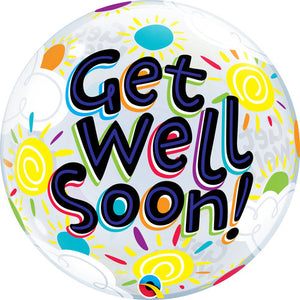 Get Well Soon Sun Bubble Balloon