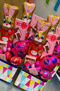 Pink Red Tulip Bunny Box