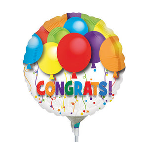 Congrats Round Bright Mini Balloon
