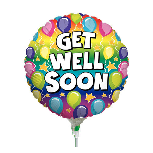 Get Well Soon Round Bright Mini Balloon