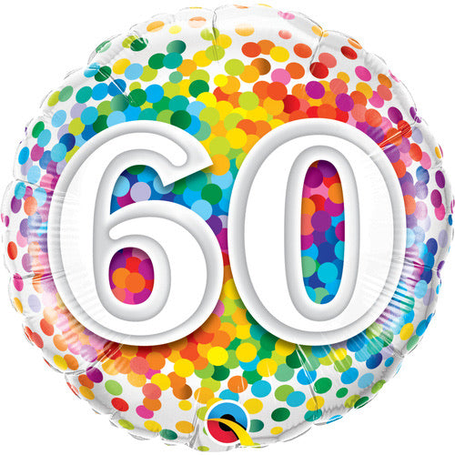 60th Milestone Birthday Foil Balloon